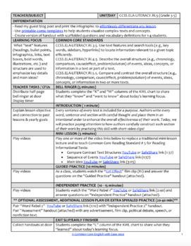 Text Structure & Text Features Activities & Lesson Plan using FILM:CCSS.ELA.RI.5