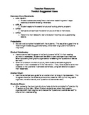 Text Structure Toolkits - ELA - Common Core Aligned