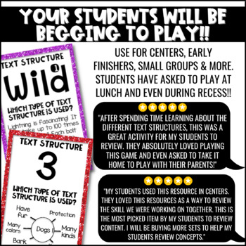Nonfiction Text Structure Game for Literacy Centers