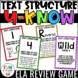 Nonfiction Text Structure Game | Test Prep Review | Text Structure Activity