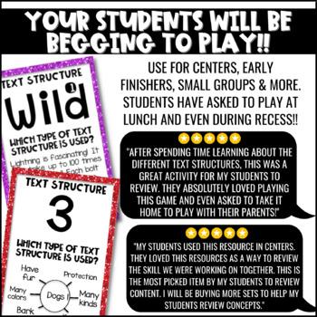 Nonfiction Text Structure Game | Test Prep Review | Text Structure Activity