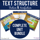 Text Structure Complete Unit BUNDLE | Vocabulary | Guided Notes | Practice |Quiz