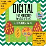 Text Structure Worksheet Bundle