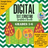 Text Structure Worksheet Bundle
