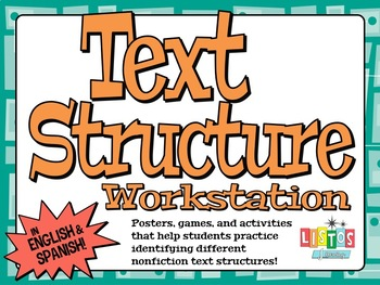 TEXT STRUCTURE  6-Activity Workstation - ENGLISH & SPANISH -
