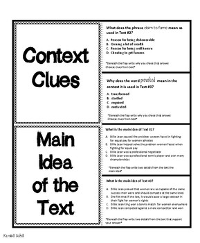 Text Structure and Main Idea