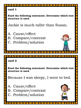 Text Structure for Lower Elementary Students
