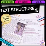 Text Structure in Nonfiction 4th Grade RI.4.5 - Printable & Digital RI4.5