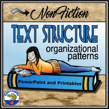 Nonfiction Text Structure PowerPoint with Graphic Organizer