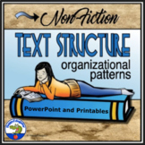 Nonfiction Text Structure PowerPoint with Printable Graphic Organizers