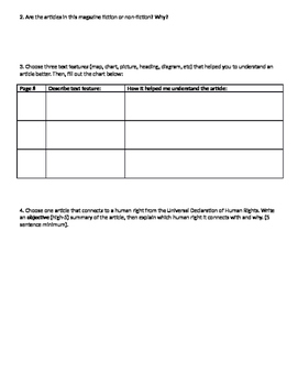 Text Structure scavenger hunt