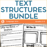 Text Structures Bundle - Activities Printables and Interactive Notebook Pages
