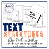 Text Structures Activities Flip book