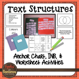 Text Structures - Anchor Chart and Interactive Notebook Activities