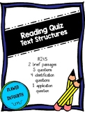 Text Structures Quiz