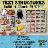 Text Structures Build-A-Chart & Games BUNDLE 1