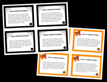 Text Structures Task Cards Bundle
