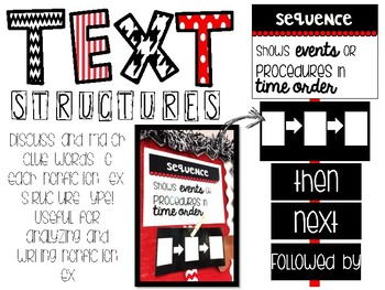 Text Structures {Clue Word Display}