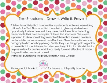 Text Structures - Draw, Write, Prove
