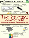 Text Structures-Glossary of Terms