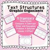 Non-Fiction Text Structures Graphic Organizers