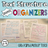 Text Structure Graphic Organizers- with paired mentor texts!