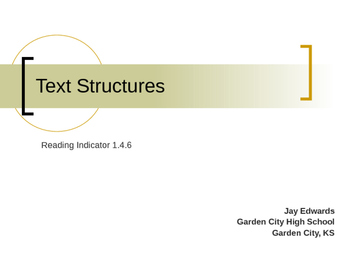 Text Structures & Integration Across the Curriculum (Common Core Indicator)