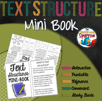 Text Structure Interactive Notebook Mini Book