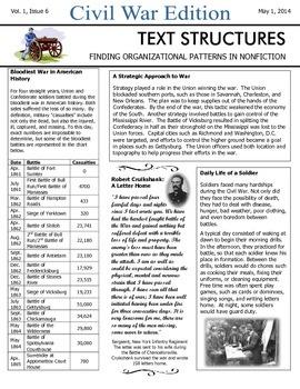 Text Structures Newsletter: Civil War Edition
