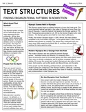 Text Structures Newsletter: Olympic Edition