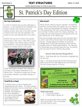 Text Structures Newsletter: St. Patrick's Day Edition