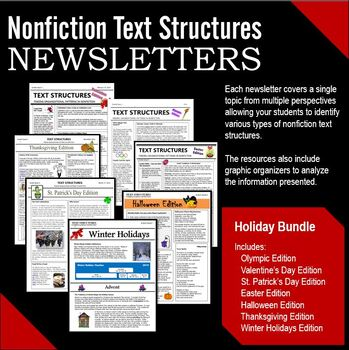 Text Structures Newsletters:  Event Bundle