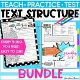 Text Structures Nonfiction Reading, Writing Bundle PRINT &