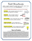 Text Structures Note Sheet & Activity Mission