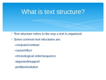 Text Structures Power Point