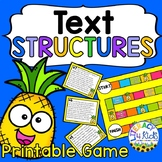 Text Structures Printable Board Game, Anchor Charts, and M