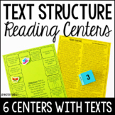 Text Structures Reading Games | Reading Centers for Nonfiction Text Structures