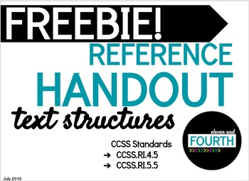 Text Structures Reference Handout