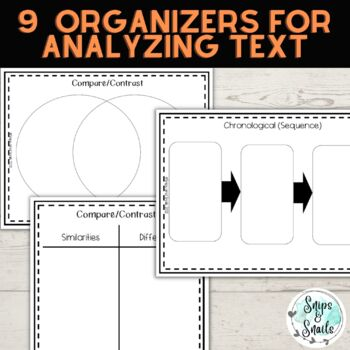 Text Structures--Reference Pages and Organizers (Anchor Standard 5)