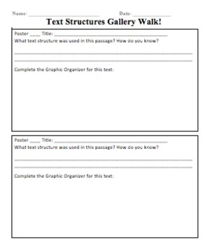 Text Structures Response Sheet