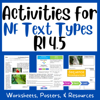 Text Structures (RI 4.5):  Supports & Posters, Practice, Exit Tickets