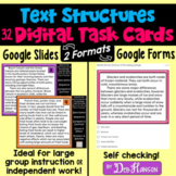 Text Structures Task Cards with Google Forms or Google Sli