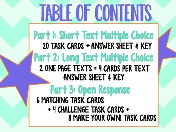 NEW! Text Structures & Features Task Cards TEKS 4.11CD STAAR Test Prep Grade 4