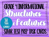 NEW! Text Structures & Features Task Cards TEKS 4.11CD STA