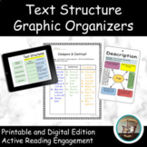 Text Structures -Text Structure Graphic Organizers Distanc