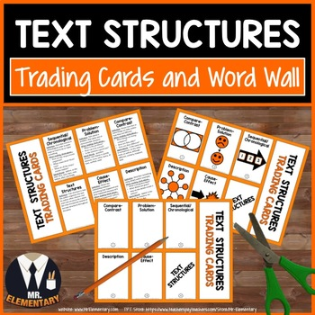 Text Structures Trading Cards and Word Wall