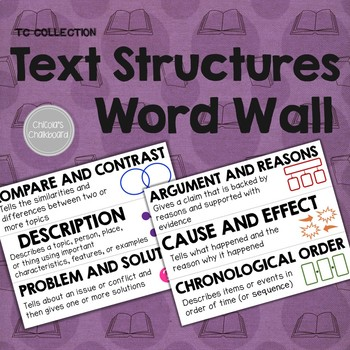 Text Structures Word Wall - From the TC Collection