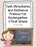 Text Structures and Sentence Frames