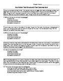 Text Structures and Text Features Quiz