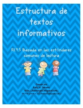 Non Fiction Text Structures in Spanish ( No Prep / Common Core Aligned )